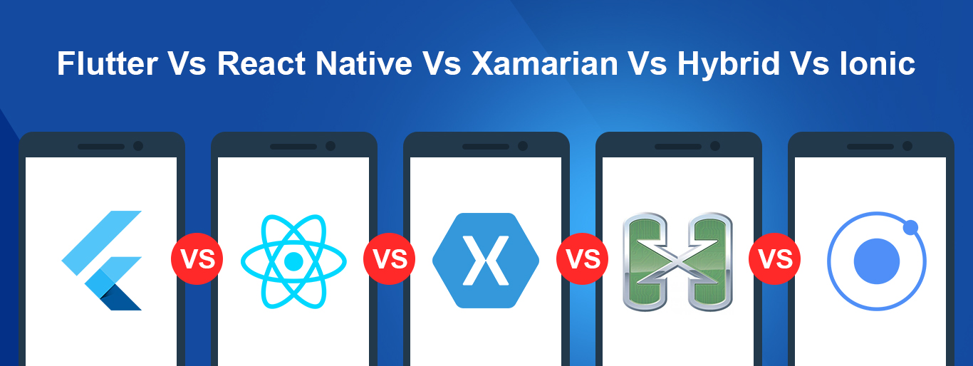Flutter Vs React Native Vs Xamarian Vs Hybrid Vs Ionic