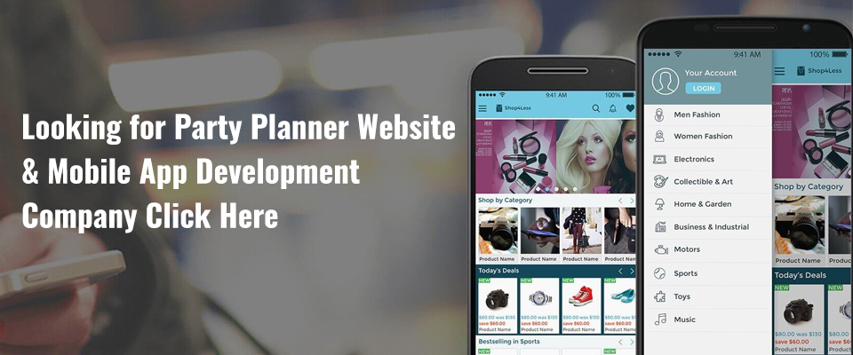 Party Planner Website & App Development Company