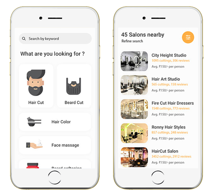 Salon appointment booking app