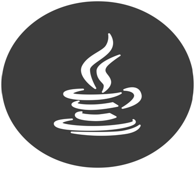 The logo for the Java coding language.