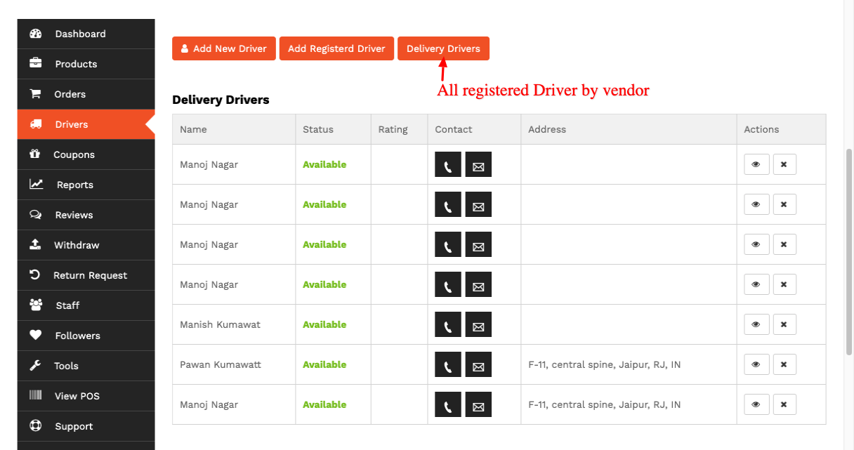 list-delivery-driver