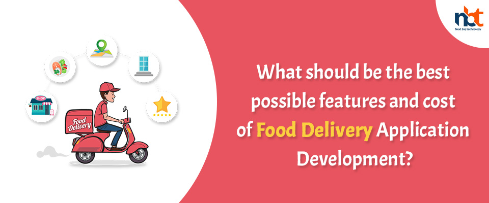 best possible features and cost of Food Delivery Application Development