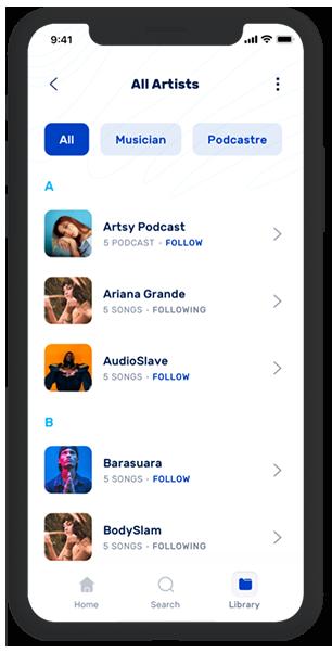 Gaana Clone-app-screen-01