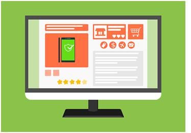 An illustration of an e-commerce website showing different payment and shipping forms, one of the ways e-commerce can help your business grow.