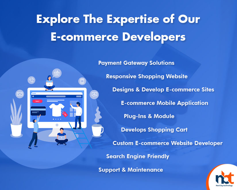 Explore The Expertise of Our E-commerce Developers